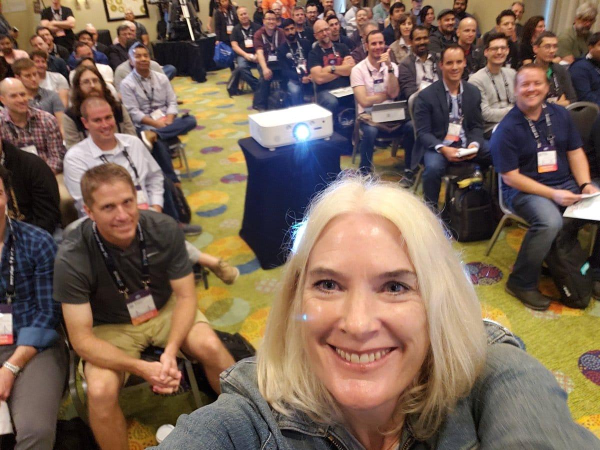 Tracy Ragan, DeployHub Inc. CEO presenting at DevOps World